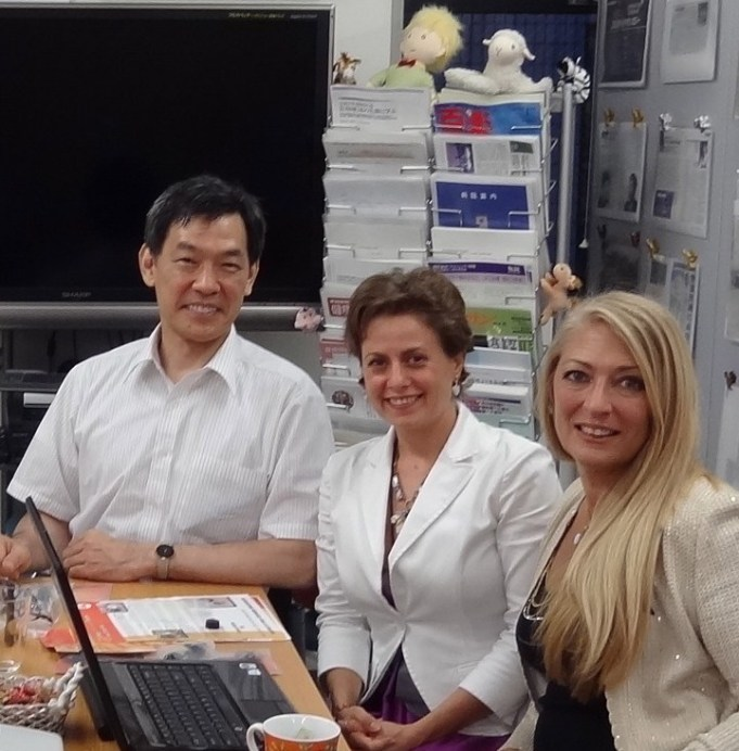 Dr. Shirasawa & Researcher Daniela Shiga at University of Juntendo